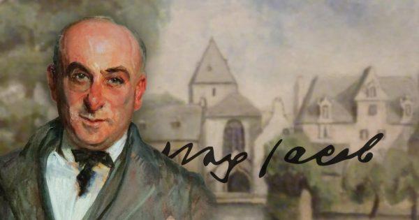 Portrait : Jacques-Emile Blanche, Étude pour le portrait de Max Jacob, 1921. Musée des Beaux-Arts de Rouen (inv. 925.1.17). Paysage : Max Jacob, L'église de Locmaria, 1927. Musée des Beaux-Arts de Quimper.