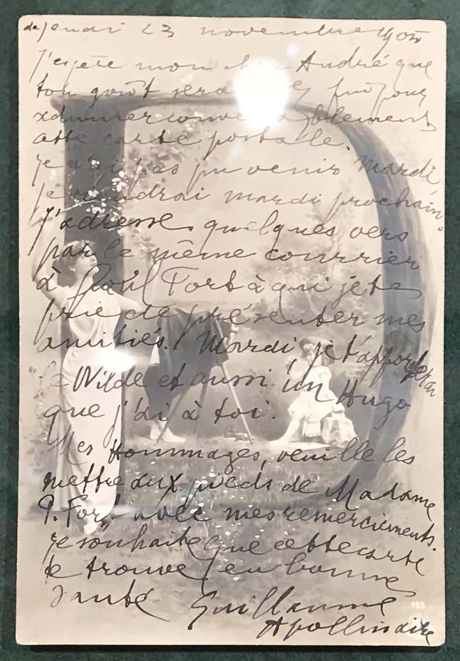 Guillaume Apollinaire, lettre autographe à André Salmon, 23 novembre 1905. © Passéisme.