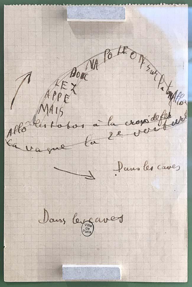 Guillaume Apollinaire, Du coton dans les oreilles, manuscrit autographe, 1916. © Passéisme.