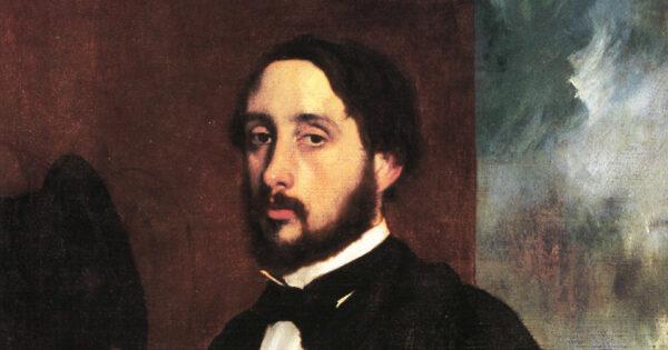 Edgar Degas, autoportrait vers 1863. © Musée Calouste Gulbenkian.