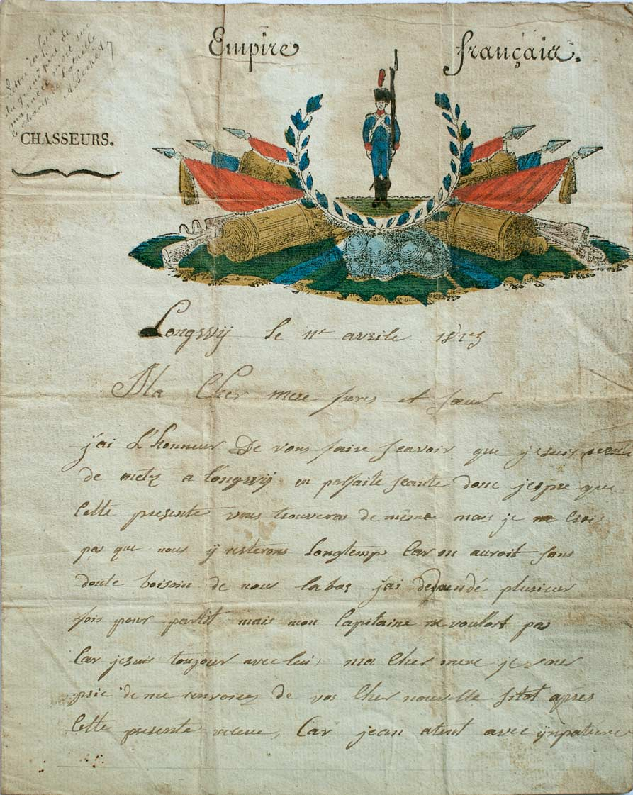 Lettre de grognard (recto). © René Wilkin.