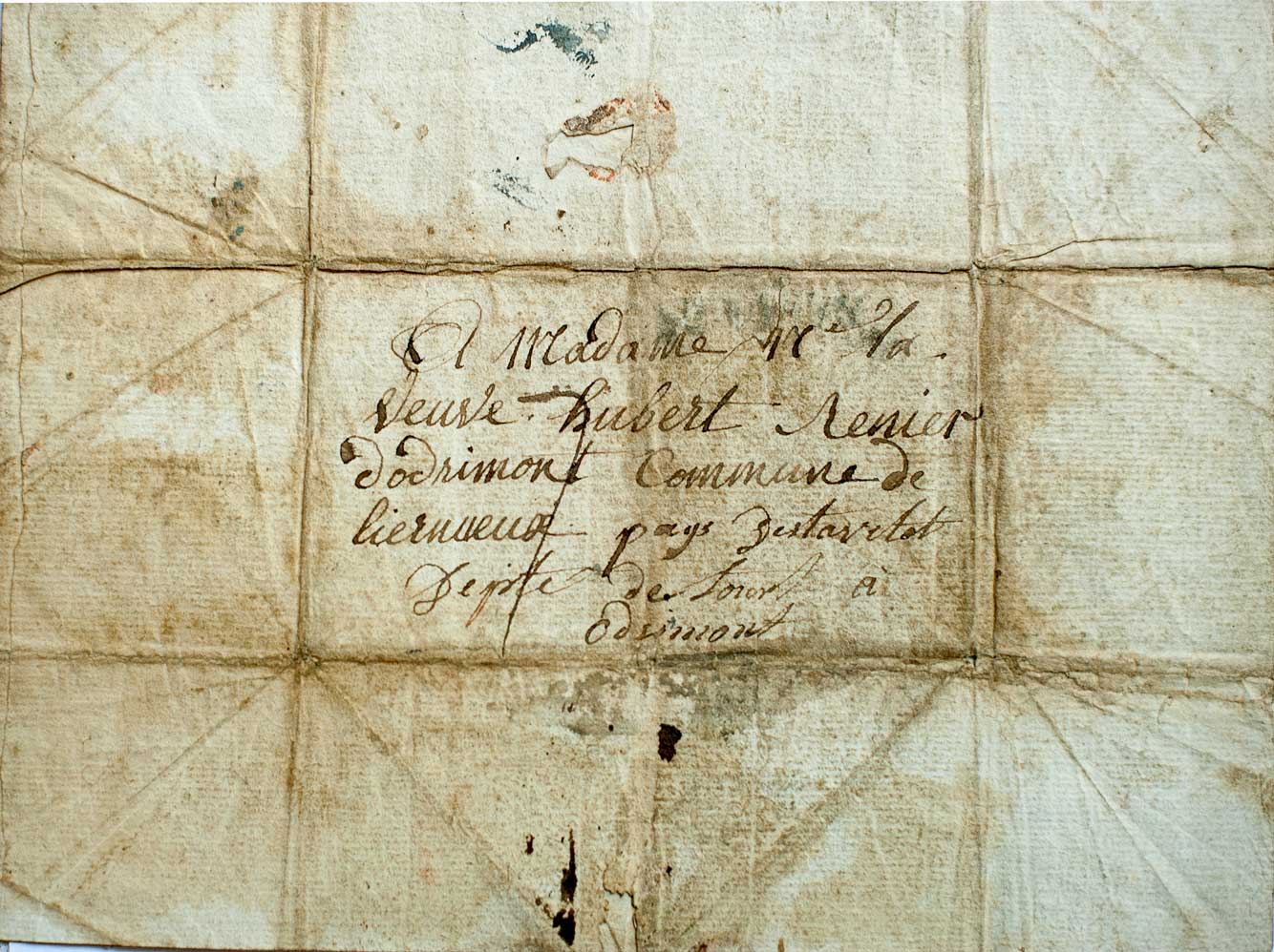 Lettre de grognard (verso). © René Wilkin.