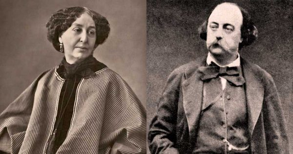 George Sand par Nadar et Gustave Flaubert.