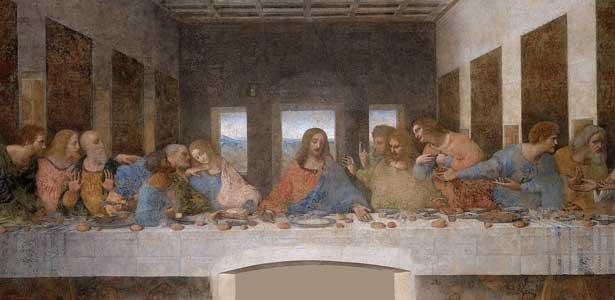 Léonard de Vinci, La Cène, de 1495 à 1498, Église Santa Maria delle Grazie de Milan