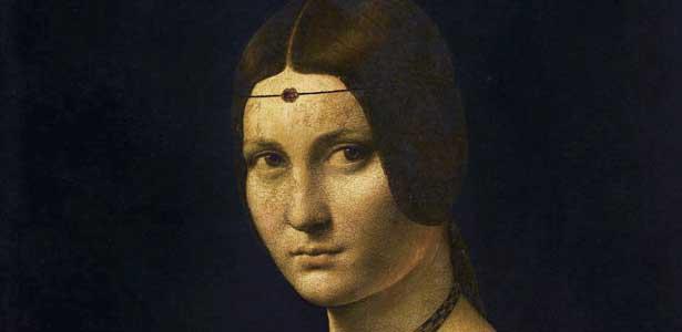 Léonard de Vinci, La Belle Ferronnière, entre 1495 et 1497, musée du Louvre