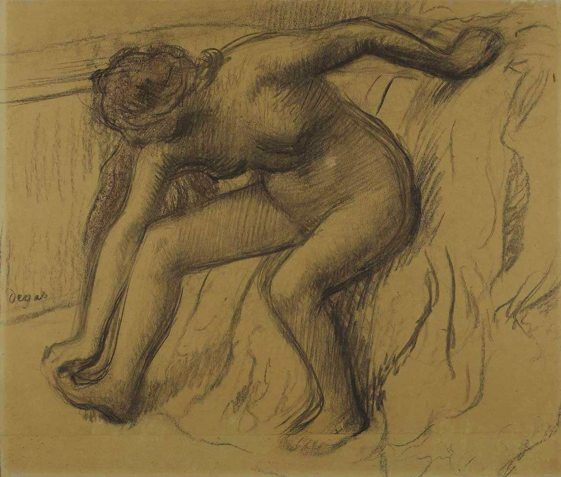 Edgar Degas, Après le bain, vers 1890.