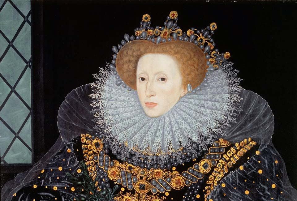 William Segar, The Ermine Portrait of Elizabeth I of England, vers 1585. Hatfield House.
