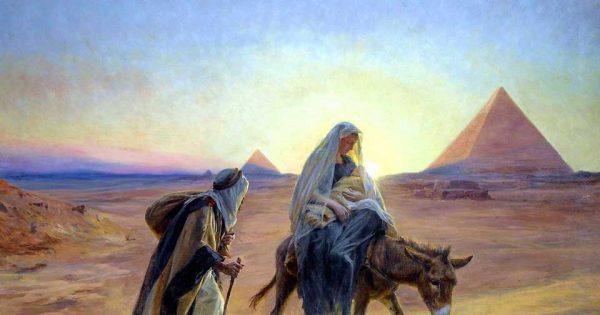 Eugène Girardet (1853-1907), La fuite en Egypte