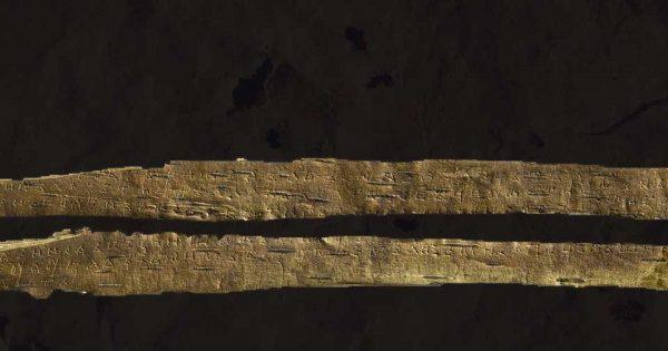 Lettre sur écorce de bouleau n°752
