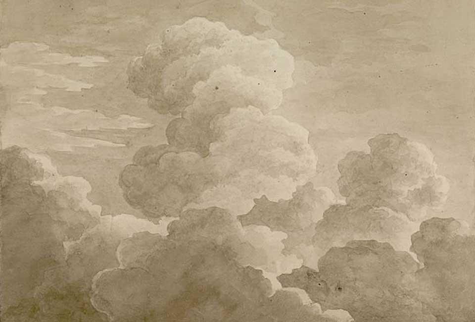 Antoine-Laurent Castellan, Etude de nuages, 1815. © Musée Fabre, Montpellier Méditerranée Métropole, photo Frédéric Jaulmes.