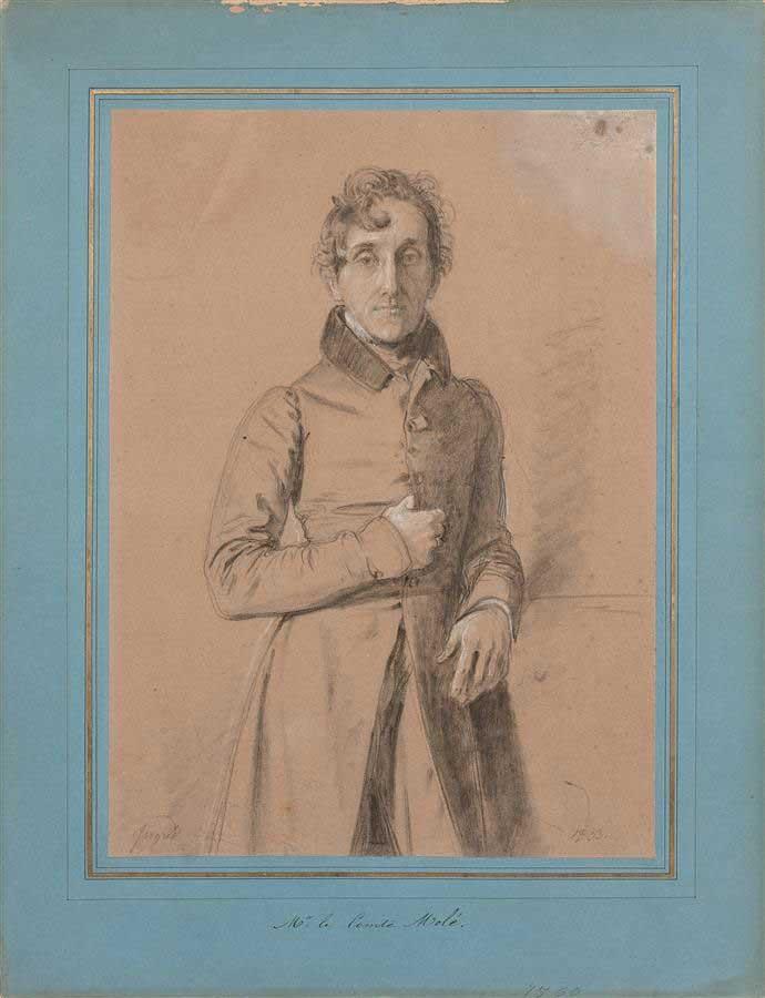 Portrait aux trois-quarts de Monsieur le Comte Molé, 1833. © Roquigny / Studio Sebert