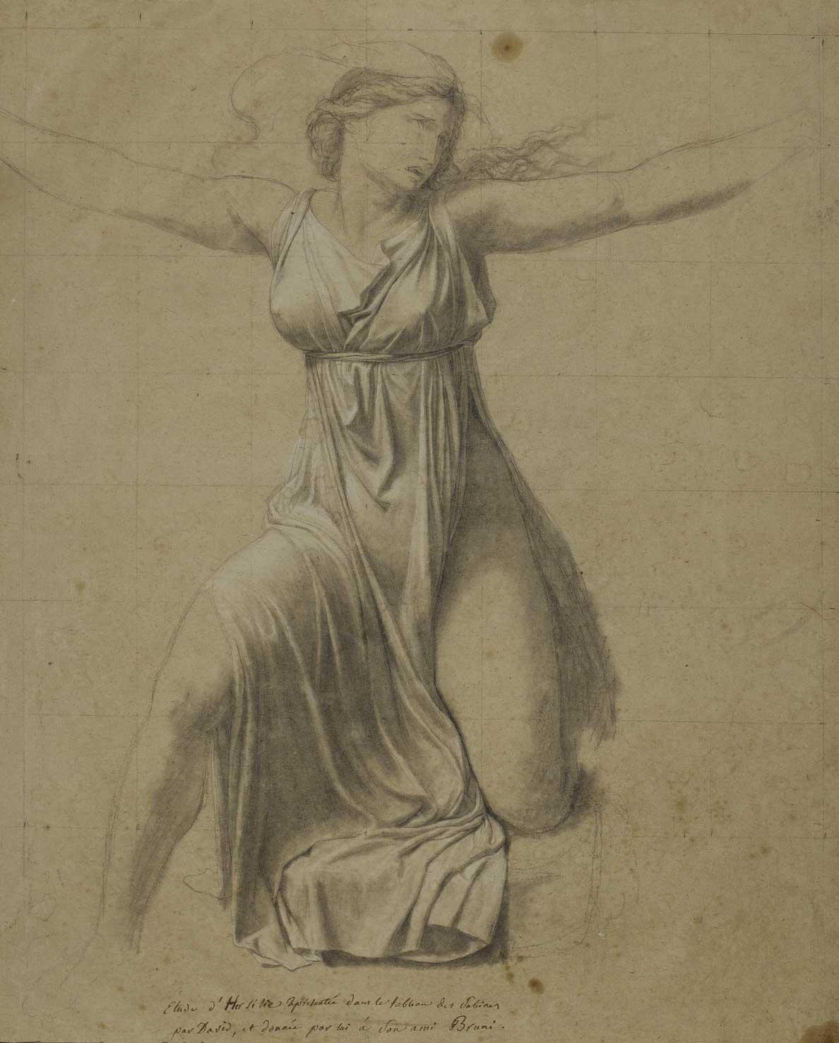 Jacques-Louis David, Étude pour la figure d'Hersilie, 1796.