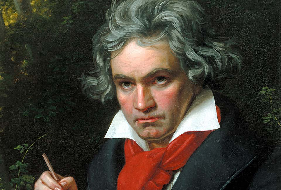 Joseph Karl Stieler, Ludwig van Beethoven travaillant à la Missa solemnis, 1820. Beethoven-Haus, Bonn (B 2389).