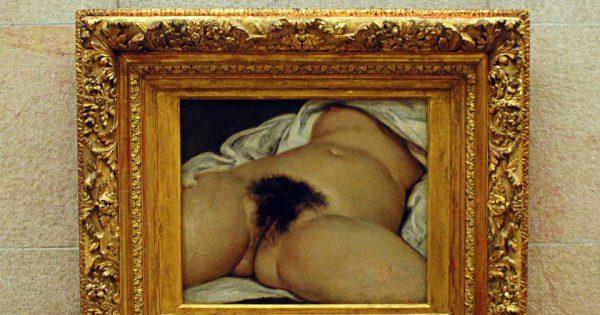 L'Origine du monde de Gustave Courbet au Musee d'Orsay. © Daniele Dalledonne