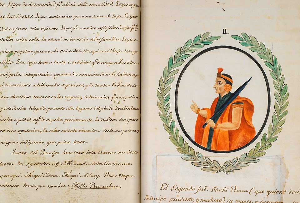 « Mémoires de la monarchie péruvienne ou aperçu de l'histoire des Incas », numérisé par la Bibliothèque nationale du Pérou.