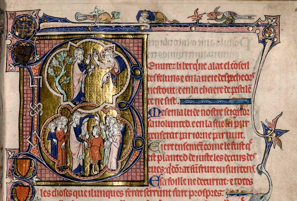 Psautier de la reine Isabelle d'Angleterre, Bibliothèque d'État de Bavière (Cod.gall. 16).