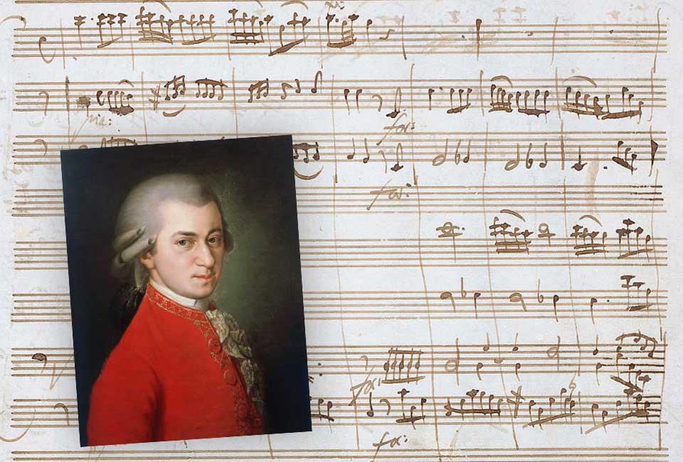 Wolfgang Amadeus Mozart - manuscrit musical autographe pour la Sérénade en ré majeur K.185/167a. Vente 28, lot 231. © Collections – Aristophil