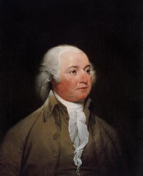 Portrait présidentiel officiel de John Adams par John Trumbull, vers 1792, Maison-Blanche.
