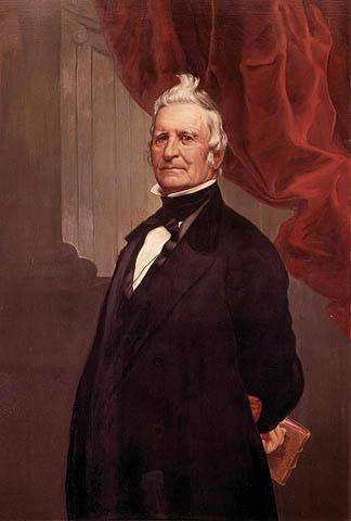 Portrait de Louis-Joseph Papineau par Théophile Hamel. Il est à la tête du Parti canadien (devenu le Parti patriote en 1826) qui lutte pour des réformes constitutionnelles fondées sur les principes britanniques.