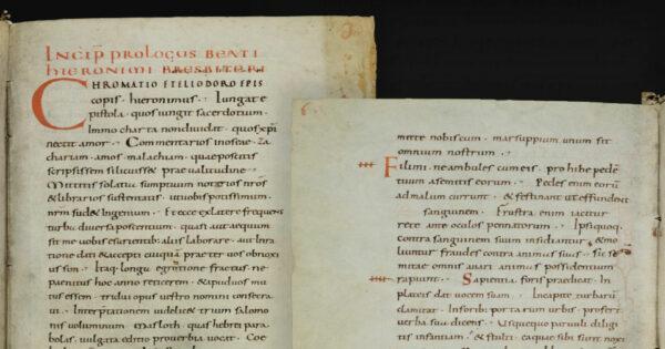 Bible de Saint-Gall, 9e siècle. St. Gallen, Stiftsbibliothek, Cod. Sang. 7: Bible (Pr, Qo, Ct, Sg, 1-2 Ch).