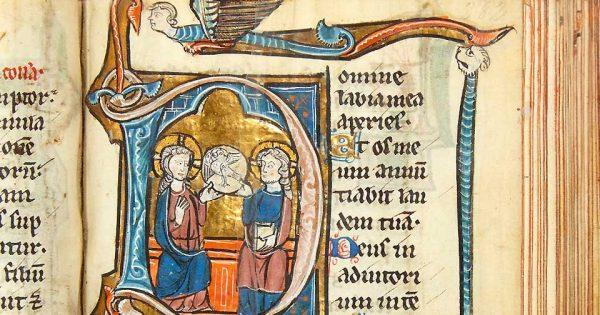 Psautier de David enluminé, Paris, vers 1250. © L'Huillier & Associés.