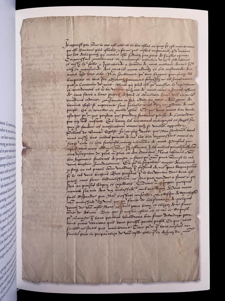 Henri VIII, lettre signée, avec notes autographe, à François Ier, roi de France, palais de Westminster, [Londres], 4 avril 1537. Le roi Tudor consulte François Ier au sujet des négociations de paix avec l'empereur Charles Quint. © Passéisme.