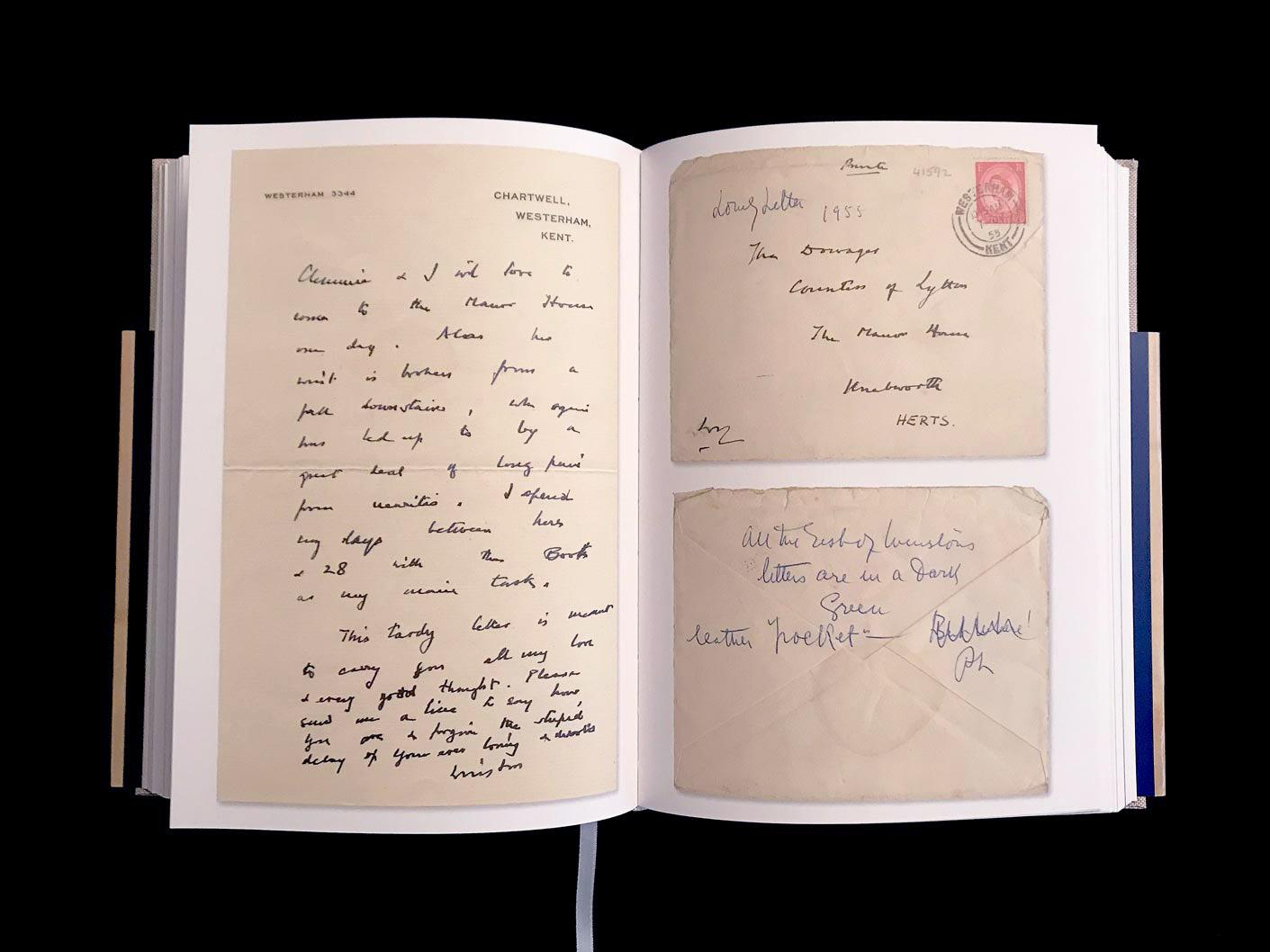 Sir Winston Churchill, lettre autographe signée à Pamela, Lady Lytton, 30 juin 1955. © Passéisme.