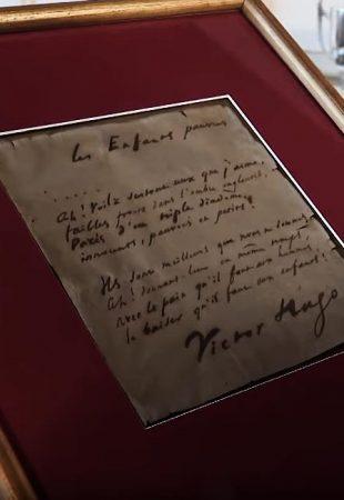 Un poème manuscrit de Victor Hugo retrouvé à Besançon