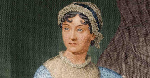 Jane Austen d'après un dessin à l'aquarelle fait par sa sœur, Cassandra.