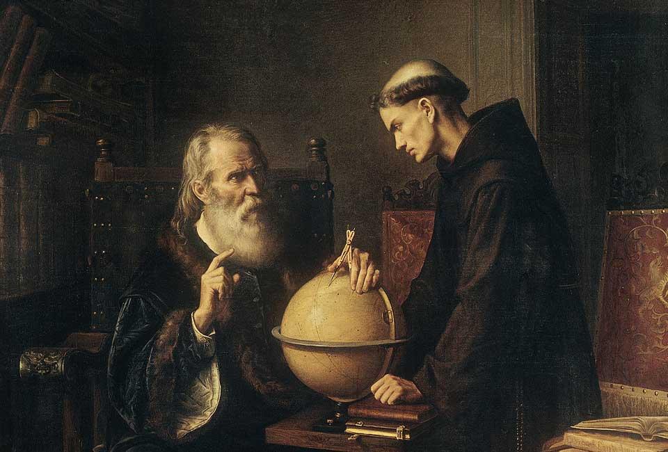 Galilée démontrant les nouvelles théories astronomiques à l'Université de Padoue, Félix Parra (1845-1919), 1873, Museo Nacional de Arte